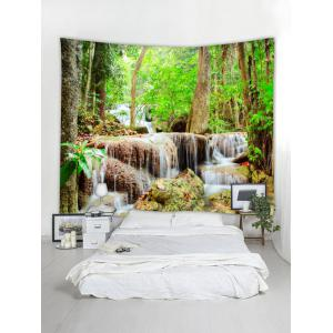 Natural Forest Stream Print Wall Hanging Tapestry -