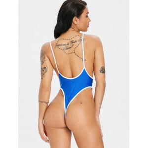 Deep V Neck Thong One Piece Swimwear -