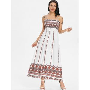 Tribal Print Smock Bohemian Slip Dress -