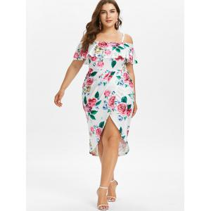 Plus Size Hawaiian Foldover Overlap Dress -
