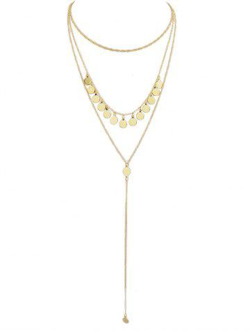 Sale Sequin Multilayered Chain Necklace