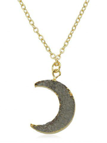 Outfits Crescent Moon Alloy Chain Pendant Necklace