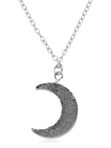 Trendy Crescent Moon Alloy Chain Pendant Necklace