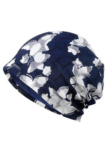 Outfit Blooming Floral Pattern Lace Slouchy Beanie