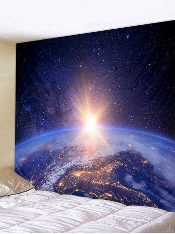 Unique Planetary Light Print Wall Hanging Art Tapestry