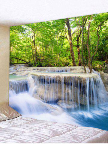 Outfits Forest Trees Stream Print Wall Hanging Tapestry