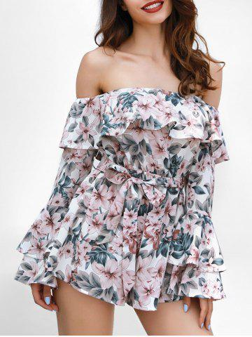 Store Ruffle Insert Floral Print Romper
