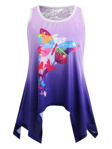 Outfit Ombre Butterfly Print Tank Top