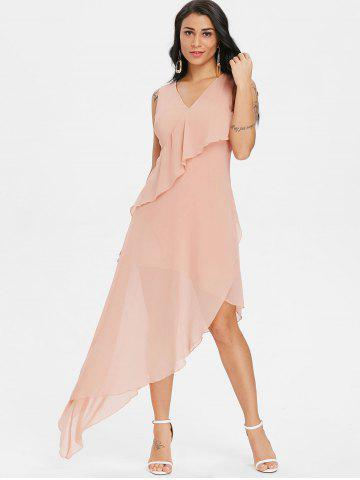 Semi Sheer Long Asymmetric Dress