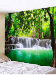 Forest Waterfall Lake Printed Wall Decor Tapestry -