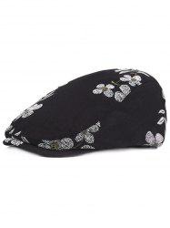 Flourishing Flowers Embroidery Jeff Hat -