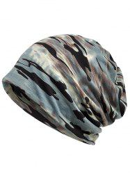 Outdoor Camouflage Pattern Decorative Beanie -