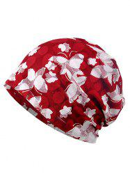 Blooming Floral Pattern Lace Slouchy Beanie -