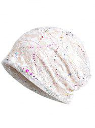 Shimmer Sequins Lace Slouchy Beanie -