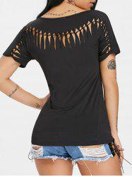Cut Out Back T-shirt -