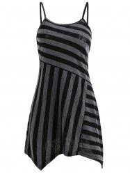 Striped Slip Asymmetrical T-shirt -