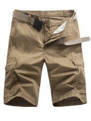 Casual Pockets Design Zipper Fly Cargo Shorts -
