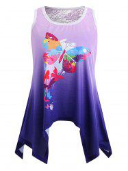 Ombre Butterfly Print Tank Top -