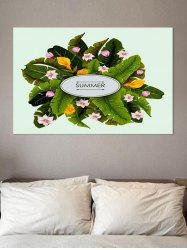 Tropical Leaf and Flower Print Wall Sticker for Bedrooms -