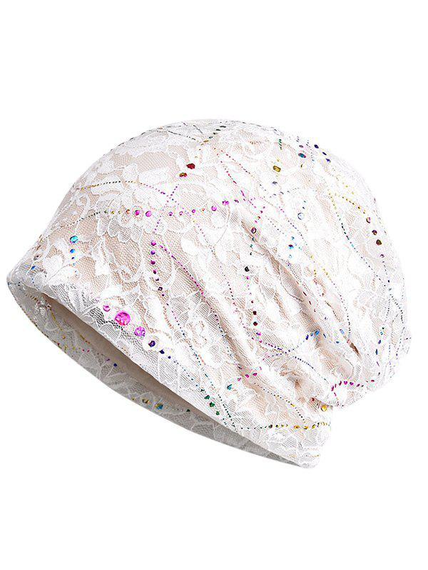 Online Shimmer Sequins Lace Slouchy Beanie