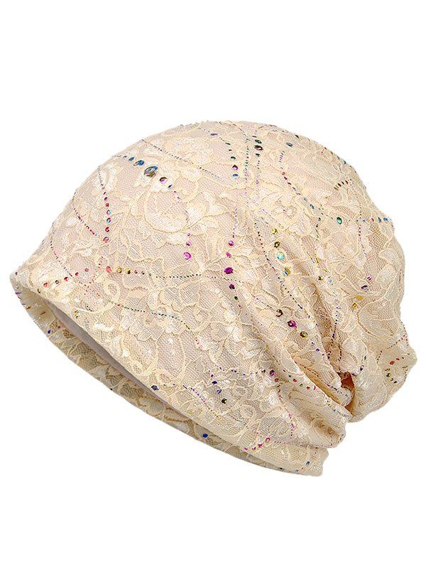 Best Shimmer Sequins Lace Slouchy Beanie