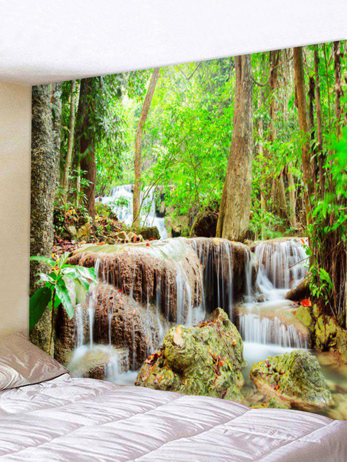 Discount Natural Forest Stream Print Wall Hanging Tapestry