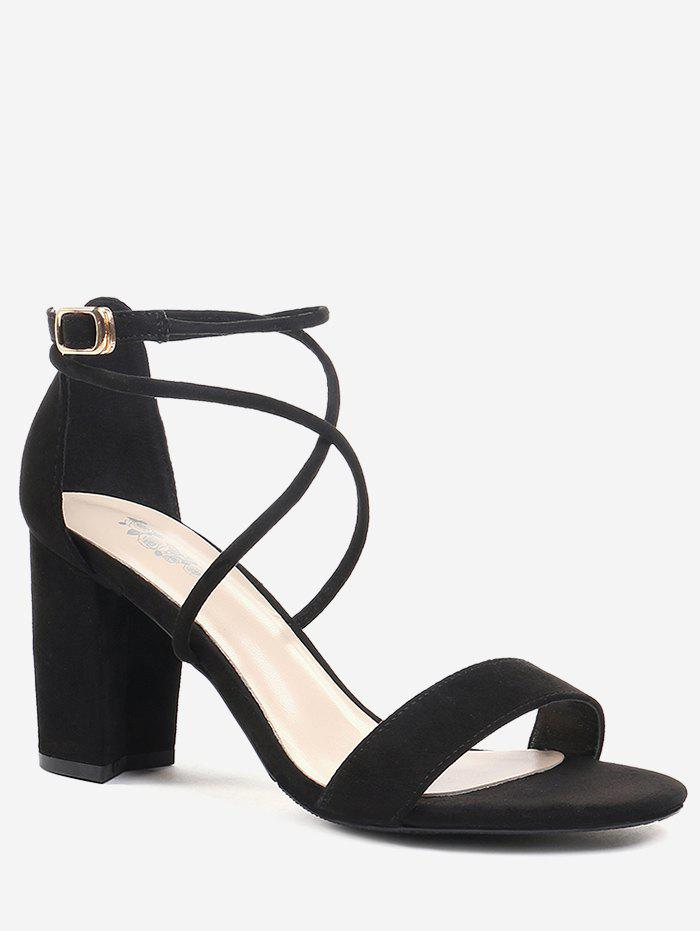 New Lanbaoli Ankle Strap Buckle Chunky Heel Pumps