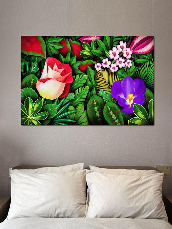 Affordable Jungle Flowers Print Wall Sticker for Bedrooms