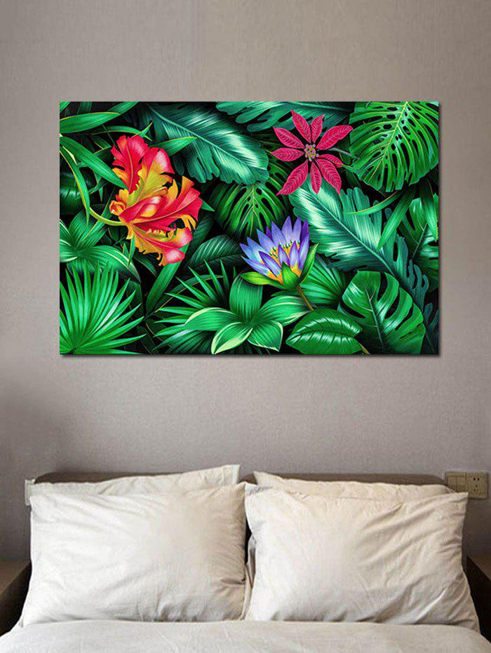 Trendy Tropical Jungle Print Wall Sticker for Bedrooms