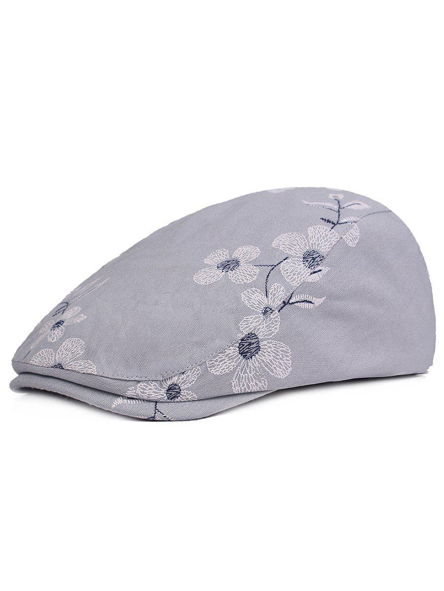 Outfits Flourishing Flowers Embroidery Jeff Hat