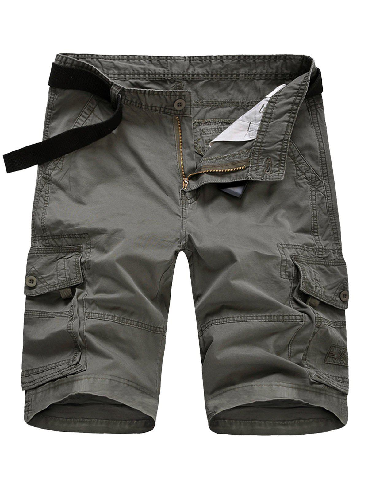 Outfit Casual Flap Pockets Zipper Fly Cargo Shorts
