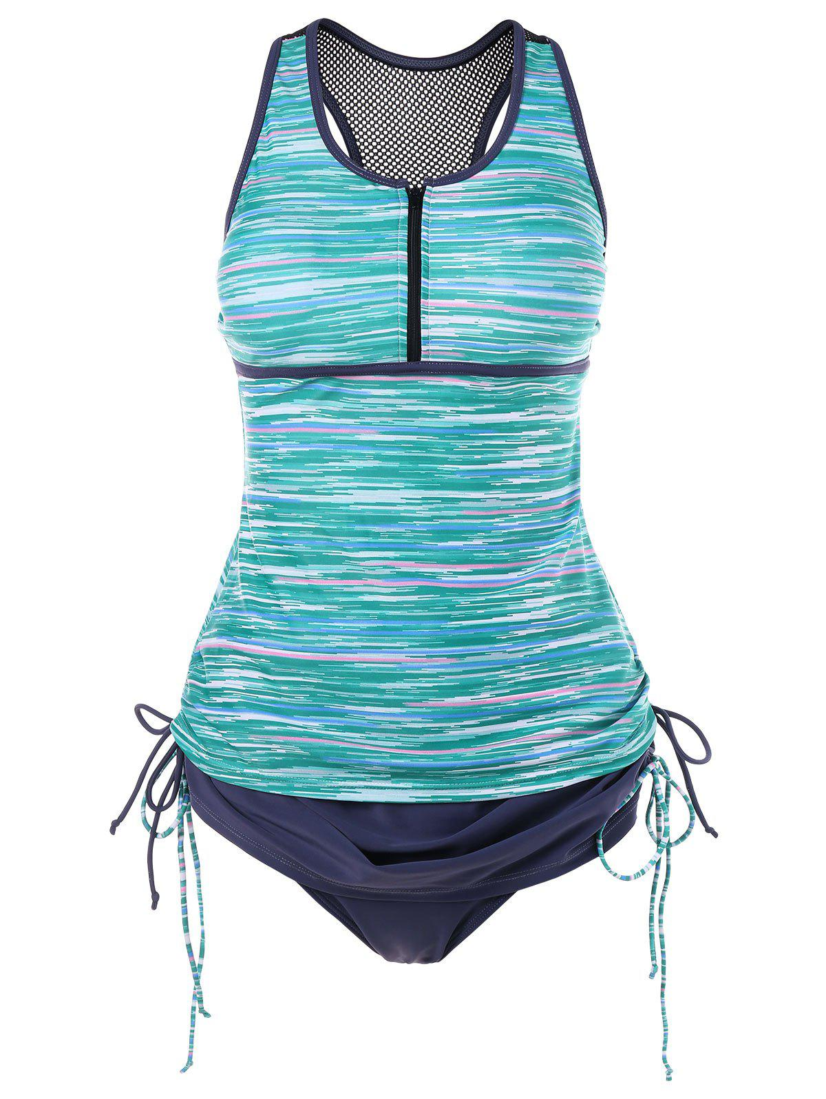 Online Space Dyed Print Racerback Tankini