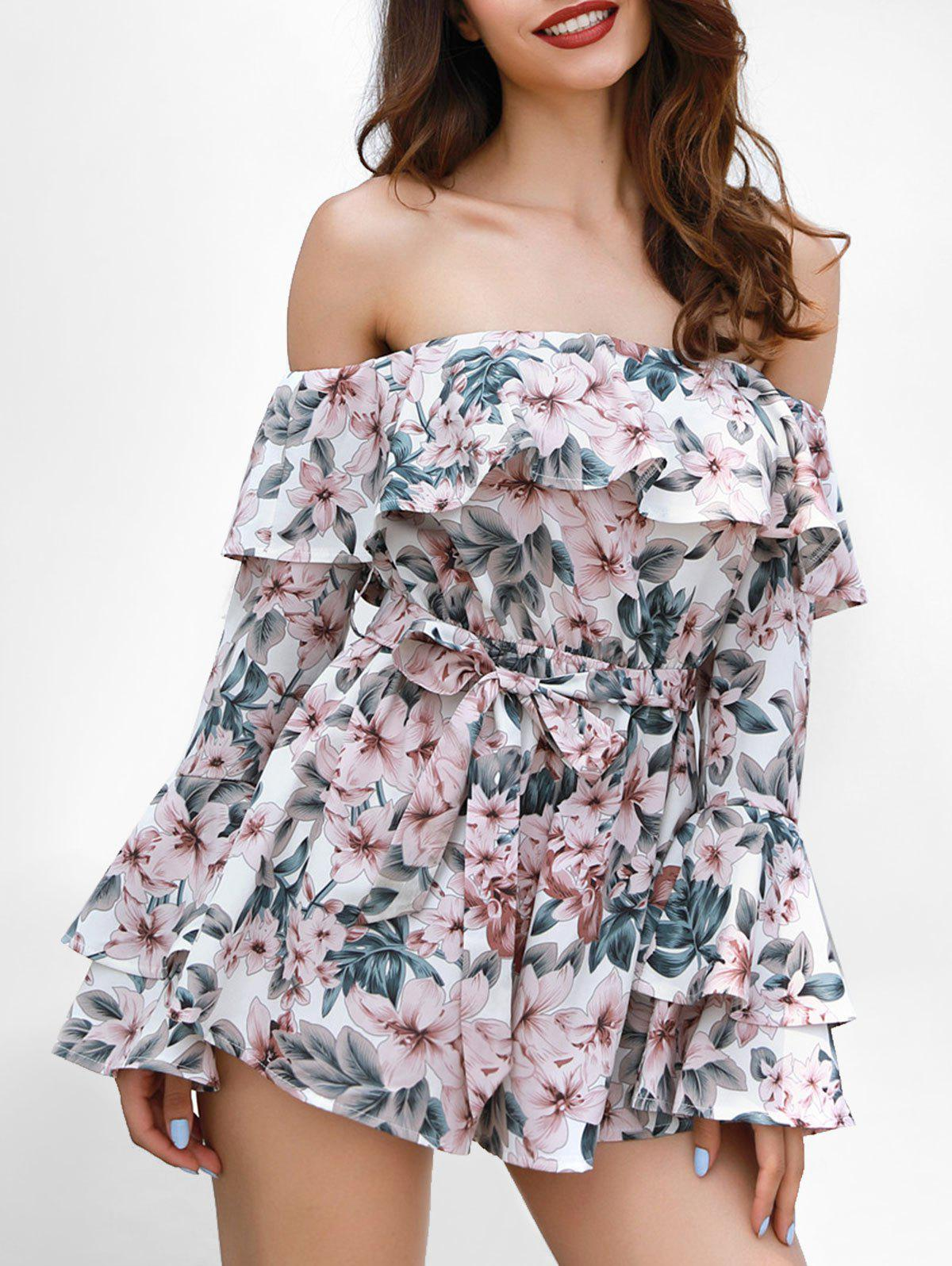 Online Ruffle Insert Floral Print Romper