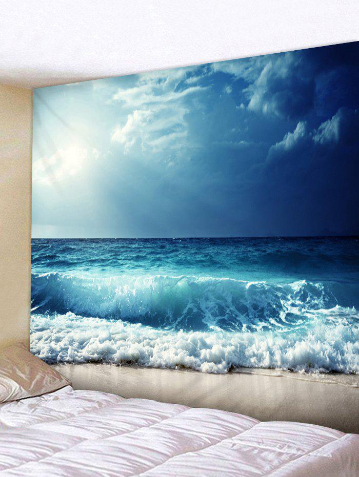 Affordable Sunshine Sea Wave Print Tapestry Wall Hanging Decor