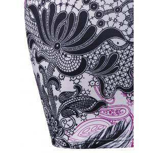 Plus Size Twist Bust Paisley Slip Dress -