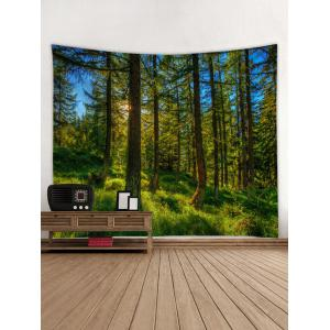 Lush Forest Print Tapestry Wall Hangings Decor -