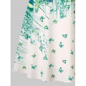 Butterflies Grass Printed Strappy Dress -