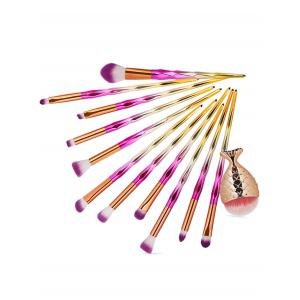 Set of 12Pcs Gradient Color Handle Ultra Soft Makeup Brush Set -