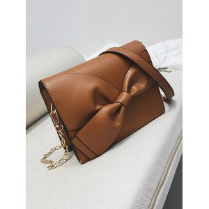 PU Leather Minimalist Bowknot Crossbody Bag -