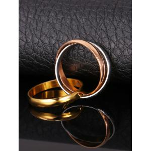Three Tone Mix Color Stainless Steel Ring -