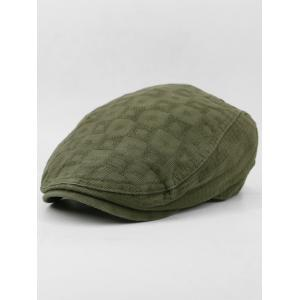Simple Checked Pattern Decorative Newsboy Cap -