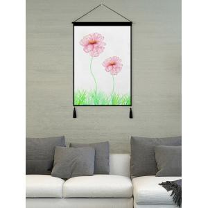 Blossom Printed Tassel Wall Hanging Painting -