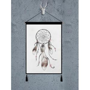 Dream Catcher Feather Printed Tassel Wall Hanging Painting -