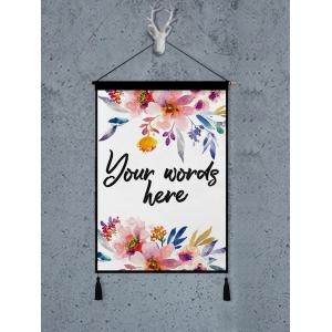 Flower Printed Tassel Wall Art Hanging Painting -