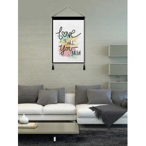 Love is All Printed Tassel Wall Hanging Painting -