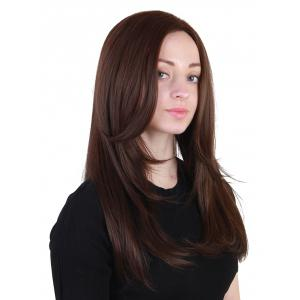 Middle Part Long Layered Straight Synthetic Wig -