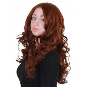 Long Center Parting Loose Wave Synthetic Wig -