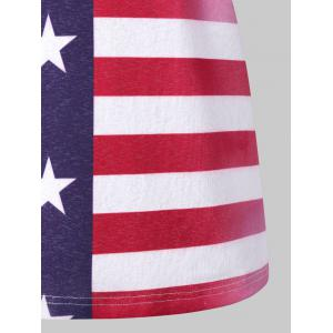 American Flag Lace Panel Tank Top -