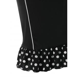 Plus Size Polka Dot Tight Dress -