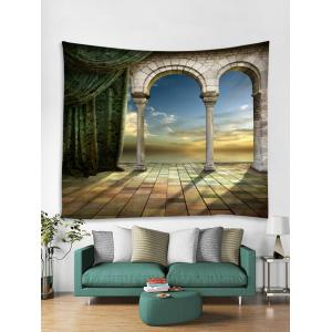 Mysterious Castle Door Print Wall Hanging Tapestry -